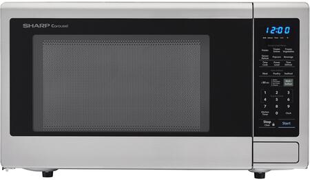 Smc1842cs 24 Countertop Microwave With 1.8 Cu. Ft. Capacity  1100 Watts  15 Turntable  Softening Function Blue Led Display  In Stainless