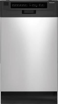 "Frigidaire 18"" Built-In Dishwasher with Stainless-Steel Tub Stainless Steel FFBD1821MS"