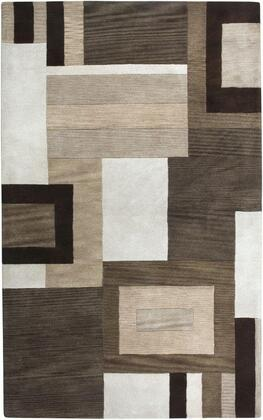 Volvo143100122608 Volare Vo1431-26 X 8 Hand-tufted 100% Wool Rug In Brown  Rectangle