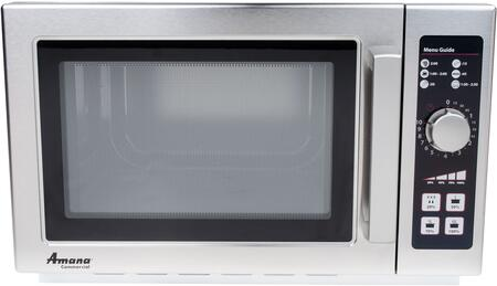 RCS10DSE 22 inch  Commercial Medium Volume Counter Top Microwave with 1.2 cu. ft. Capacity  120 Volts  and Stainless Steel Construction  in Stainless