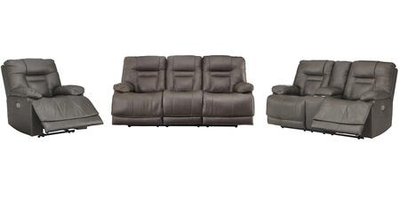 Wurstrow Collection U54602SLR 3-Piece Living Room Set with Reclining Sofa  Loveseat and Recliner in