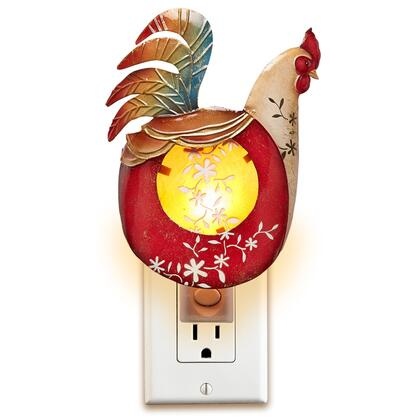 DFA0900 Nightlight Decor - Rooster in Red  Yellow Green