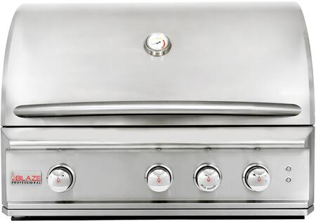 "BLZ-3PRO-LP 34"""" Professional Built-In Liquid Propane Grill with 3 Stainless Steel Burners  615 sq. inches Grilling Space  and Warming Rack  in Stainless"" 498930"