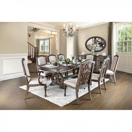 Arcadia Collection CM3150TDTMS8SCAC 11-Piece Dining Room Set with 78