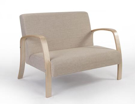 194025 4D Concepts Danish Collection Two Seat Sofa in Natural