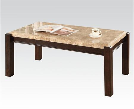 80793 Charissa Coffee Table with Aegean Light Brown Marble