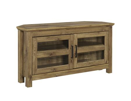WQ44CCRBW 44 inch  Wood Corner TV Media Stand Storage Console in