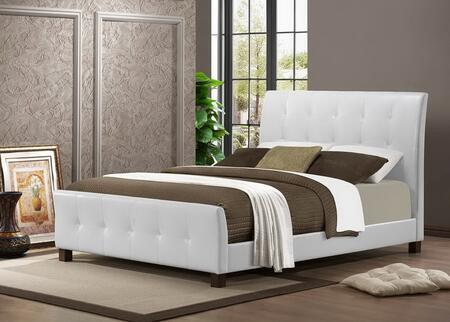 IDB049-WHITE-FULL Baxton Studio Amara Modern Bed - Full Size  In