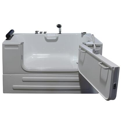 Neptune Series HY-1242R 59 inch  Sit-In Tub with Heated Air Jet System with Head Rest Pillow  Safety Grab Bars and Front Access Panel: Right Side