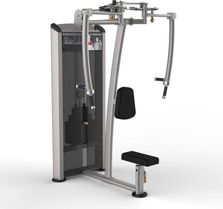 E-4986 Platinum Series 9515 Pec Fly/Rear Delt Machine with 200 lbs. Incremental Weight Stack  Military Grade Cables and High-Tech Oval Tubing in Black and