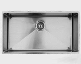 RS838 31 inch  Wide Undermount Single Bowl Sink - 18 Gauge: Stainless