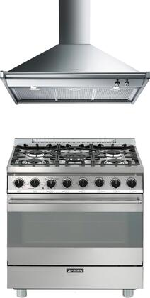 2-Piece Stainless Steel Kitchen Package with C30GGXU1 30 inch  Freestanding Gas Range and KDU30X 30 inch  Wall Mount