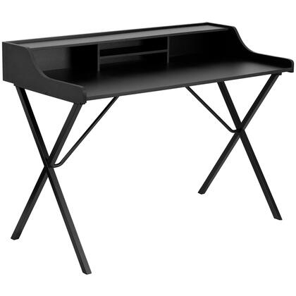 NAN-2124-GG Black Computer Desk with Top