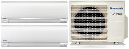 Dual Zone Mini Split System with 2 CSE9RKUAW Wall Mount Indoor Unit  18000 Cooling and 24600 Heating BTU Total 931063