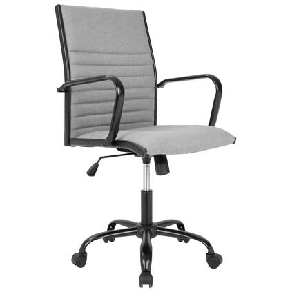 OFC-AC-MSTF LGY Master Contemporary Fabric Office Chair in Light