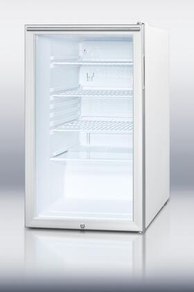 """SCR450LBIHH 20"""" 4.1 cu. ft. Built-in Capable Compact Refrigerator With Glass Door  Factory Installed Lock  Reversible Door  Adjustable Shelves  100% CFC"""