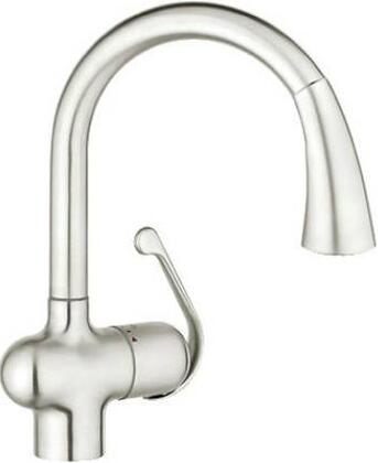 Grohe 33755SD1 Ladylux Cafe Single-Handle Pull-Down Kitchen Faucet, RealSteel
