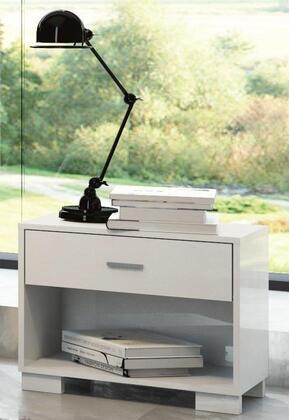 50784 Manhattan Comfort 1- Shelf  1- Drawer Astor Nightstand in White  Gloss/ High