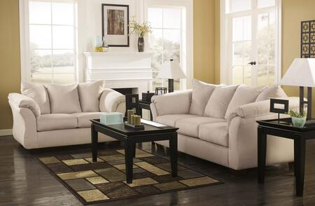 Darcy 75000FSSL3TR2LTA 13-Piece Living Room Set with Full Sofa Sleeper  Loveseat  3PC Table Set  Rug  2 Lamps and 5PC Table Accessories in