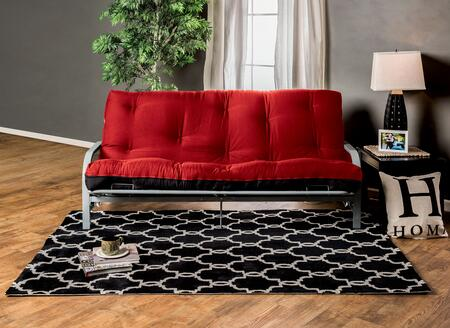 "Knox FP-2415BR 8"" Red/Black Futon Mattress with Inner"