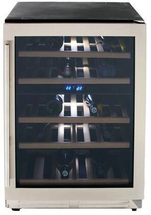 Avanti WCF43S3SD 43 Bottle Dual Zone Wine Chiller With Seamless Door, Steel