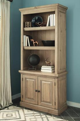 Florence Collection 801645 36 inch  Bookcase with 2 Doors  Adjustable Shelves  Metal Hardware and Wire Management Grommets in Rustic
