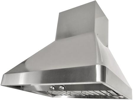 RAX9536SQB-DC-1 36 inch  Wall Mount Range Hood with 760 CFM Internal Blower  3 Speeds  Rotary Control  LED lights  Stainless steel Baffle Filters and QuietMode: