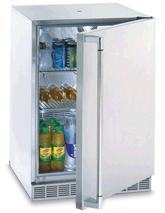 "L24BF 5.5 Cu. Ft. Capacity 24"" Outdoor Refrigerator / Convertible to Beverage Dispenser  Adjustable Shelves  Adjustable Temperature  Forced-air Cooling and"