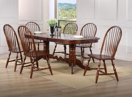 Andrews Collection Dlu-adw4296-c30-ct7pc 7-piece Dining Room Set With Extension Table And 6 Side Chairs In Distressed