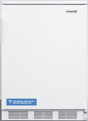 FF6 24 inch  FF6 Series Medical Freestanding Compact Refrigerator with 5.5 cu. ft. Capacity  Interior Lighting  Door Storage and Automatic Defrost: White Door with