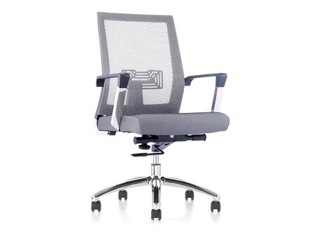 Jet Collection CB-O116-G Office Chair with Hydraulic Mechanism  Casters  PVC and Chrome Metal Frame  Modern Style  Commercial Grade and Fabric Upholstery in