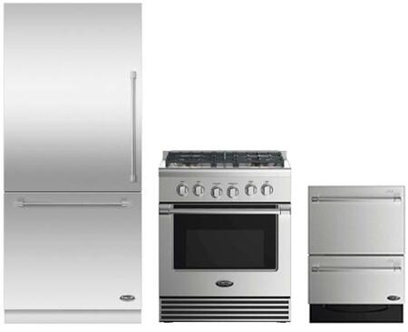 4piece Kitchen Package With Prd305ph 30 Dual Fuel Range
