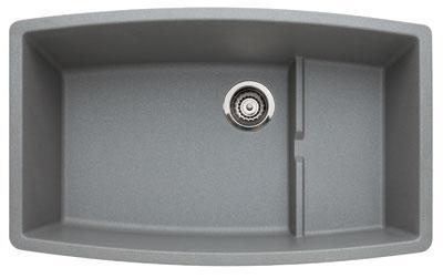 440067 Performa Silgranit Cascade Super Single Bowl Kitchen Sink In Metallic