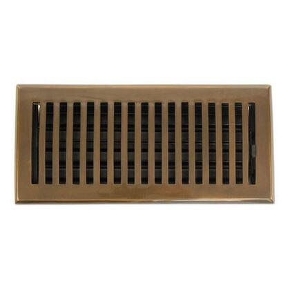 116E AB Contemporary Series Solid Brass Decorative Floor Register Vent In Antique Brass