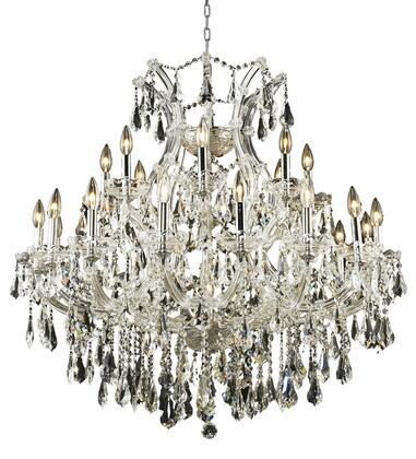 2801D36C/RC 2801 Maria Theresa Collection Hanging Fixture D36in H36in Lt: 24+1 Chrome Finish (Royal Cut