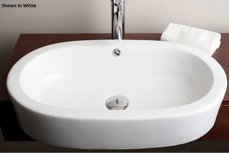 IMG-50  Teno Collection 15 inch  Countertop Drop-In Semi-Recessed Oval Ceramic Vessel Vanity Sink:
