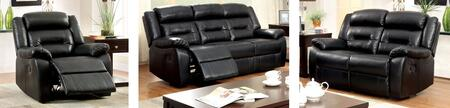 Sheldon Collection CM6320-SLR 3-Piece Living Room Set with Motion Sofa  Motion Loveseat and Recliner in