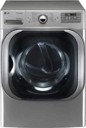 """DLGX8001V SteamDryer Series 9.0 cu. ft. Mega Capacity 29"""" Wide Front Load Gas Steam Dryer  14 Drying Programs  5 Temperature Settings  TrueSteam Technology"""