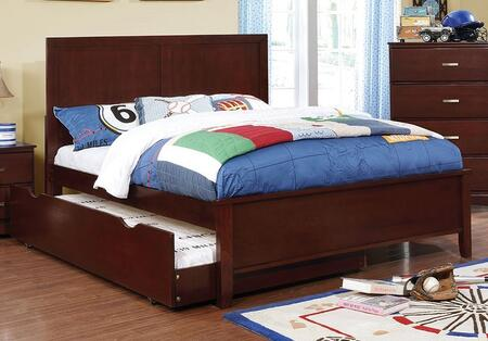 Prismo Collection CM7941CH-F-BED+TR Full Size Platform Bed with Trundle  Low Profile Footboard  Tapered Legs and Wood Construction in