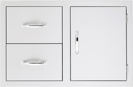 SSDCM Masonry Door/ 2 Drawer Combo  in Stainless