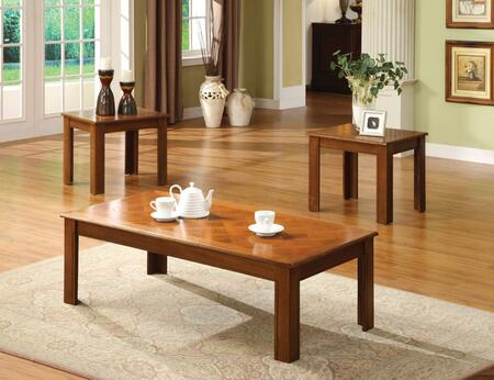 Town Square II Collection CM4168OAK-3PK 3-Piece Living Room Table Set with Coffee Table and 2 End Tables in Medium