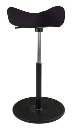 MOVE 2600 DINIMICA 9059 BLK HI BLK 26 inch  - 34 inch  Sit-Stand Chair with Dinimica Upholstery  9059 Color Code  Black Ash Base  High Lift Height and Black Gas