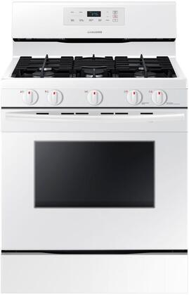 "NX58K3310SW 30"" Freestanding Gas Range with 5.8 cu. ft. Oven Capacity  5 burners  Touch Control and Storage drawer in"