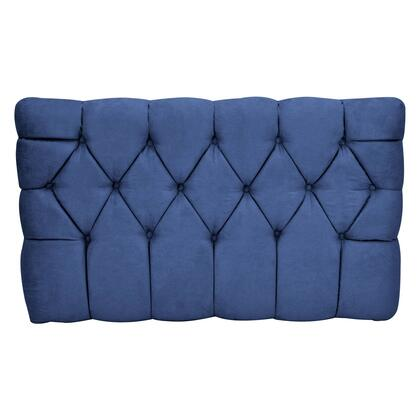 inch Meridia 11201NS Collection inch  Tufted Upholstered Twin Headboard with Metal Legs and Wood Frame in Navy