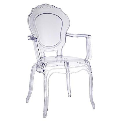 FMI10281-CLEAR Traditional Dining Chair with Arms