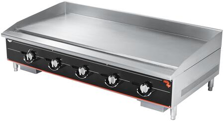 960GGT 60 inch  Cayenne Heavy-Duty Thermostatic Griddle with 150 000 BTU  24 inch  Cooking Surface Depth  Mechanical Safety Pilots  5 inch  Back Splashes in Stainless