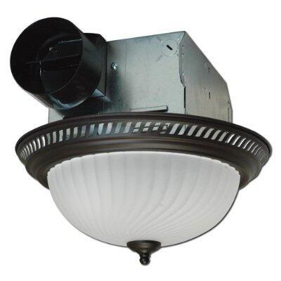 DRLC701 Decorative Round Fan/Light  70 CFM  4.0