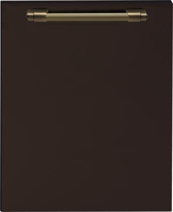 DWPMB 24 inch  Dishwasher Door Panel with Bronze Handle  in Brown