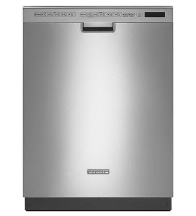 "KitchenAid Architect Series II 24"" Front Control Tall Tub Built-In Dishwasher with Stainless Steel Tub Stainless Steel KDFE454CSS"