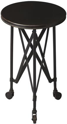 Costigan Collection 1168025 14 Accent Table with Casters  Interlaced Base  Industrial Style and Round Shape and Iron Construction in Metalworks